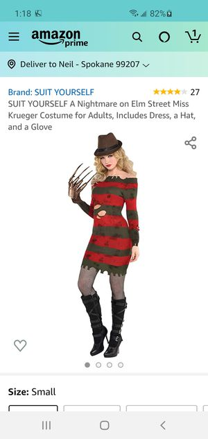 Ms. Freddy Krueger Costume for Sale in Spokane, WA