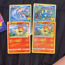 """Pokémon 25th Anniversary 4 Pack """"Cyndaquil"""" Holo for Sale in South Gate,  CA"""