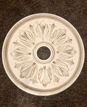 White and Gold Ceiling Medallion for Sale in Denver, CO