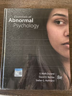 Essentials of Abnormal Psychology 8e for Sale in Chandler, AZ
