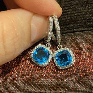 Cute Silver Blue Stone Earrings for Sale in Dallas, TX