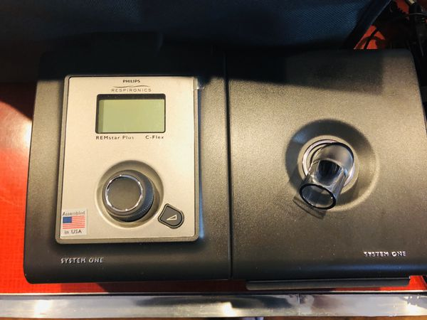 Philips Respironics System One CPAP machine includes water chamber, tubing, Storage Case/Bag