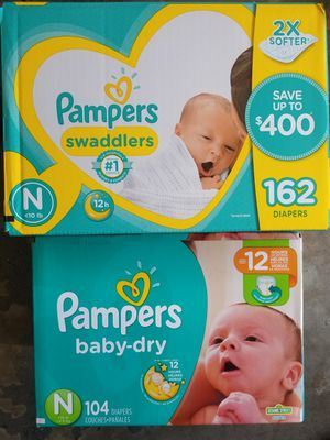Pampers Newborn Swaddlers 162 count for Sale in Raleigh, NC