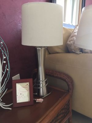 Brushed nickel lamp for Sale in Goulds, FL