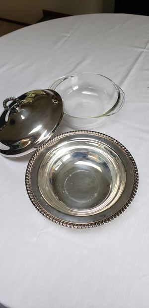 Silver plated covered dish for Sale in Auburn, WA