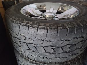 "Wheels and tires lt 305/55r20 "" 8 lug Silverado Tahoe Yukon suburban gmc dodge ram older Ford 8x6,5 for Sale in Riverside, CA"