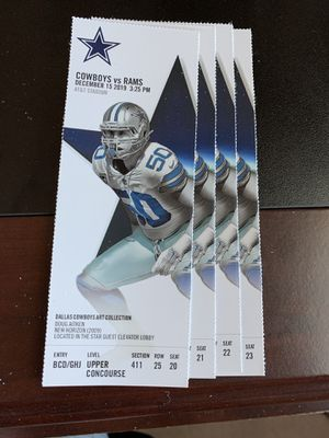 Many Great Options for LA Rams @ Dallas Cowboys Tickets for Sale in Irving, TX