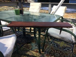 """Stained 34"""" by 7 1/2"""" Shelf With Brackets Attached for Sale in Mount Ephraim, NJ"""