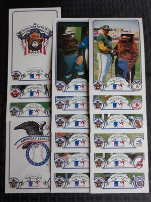National Smokey Bear's Fire Prevention Team Day 1987 MLB American League for Sale in Elk Grove, CA