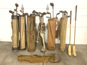 Antique Wood Shaft Golf Clubs and Bags for Sale in Traverse City, MI