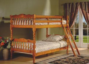 Brand New Twin Size Honey Oak Wood Bunk Bed (New in Box) for Sale in Silver Spring, MD