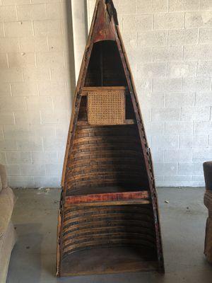 Antique canoe bookshelf $150.00 for Sale in Littleton, CO