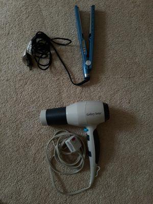 Hair straightener and hair dryer for Sale in Alpharetta, GA