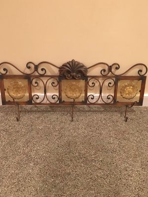 Decorative coat hanger with 3 hooks for Sale in Chantilly, VA