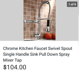 Chrome kitchen faucet brand new for Sale in El Paso, TX