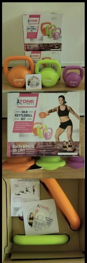 NEW KETTLEBELL WEIGHT KIT / DVD IN INCLUDED - IN BOX for Sale in Los Angeles, CA