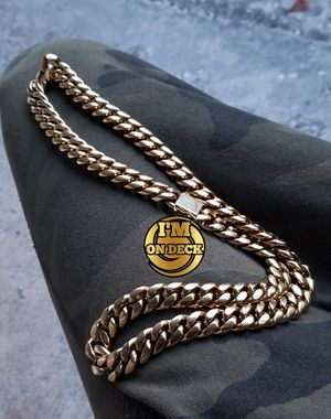👑👑👑14mm 14k Gold Plated Cuban Link chain🔥🔥🔥I Deliver🚘🚘🚘💱💱💱💯💯 for Sale in Miami, FL