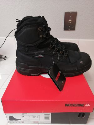 Brand new wolverine work boots for men. Size 9. Carbon toe. Waterproof for Sale in Riverside, CA