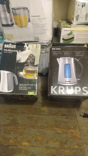 Braun multi quick 3 water kettle & Krups water kettle for Sale in Akron, OH