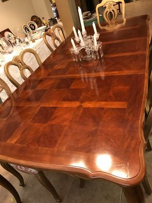 Large dining room table and eight chairs for Sale in Lake Worth, FL