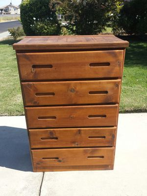 Dresser Tall 5 Drawer Wood Dresser for Sale in Clovis, CA