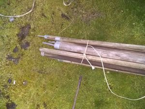 Octagon wood poles for wall tent for Sale in Portland, OR