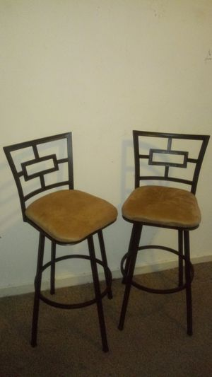 Mainstay bar height stools 40inches tall swivels good condition for Sale in Philadelphia, PA