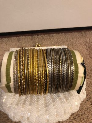 50 gold and Silverplated plated bangles for Sale in Kensington, MD