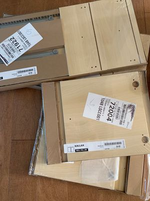 IKEA Kallax - 2x shelving door, 2x shelving drawer for Sale in Kirkland, WA