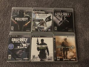 6 PS3 Games (Call of Duty, Assassins Creed) for Sale in Germantown, MD