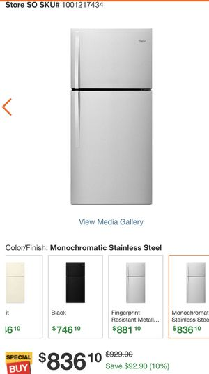 Complete stainless steal whirlpool appliance set. Refrigerator, electric stove range, dishwasher, and over the range microwave for Sale in Philadelphia, PA