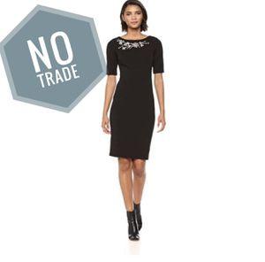 Calvin Klein - Embellished Sheath Black Dress for Sale in Fairfield, CA