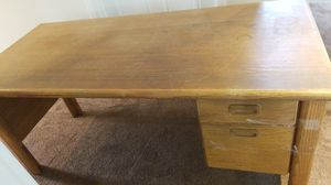 Solid wood 2 drawer desk for Sale in Brier, WA