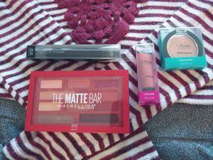 Makeup bundle with medium long sleeve Massinni brand shirt maybelline eyeshadow paletter lip gloss eyeliner black bronzer for Sale in Coldwater, MI
