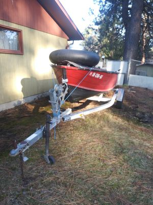 16ft aluminum boat with trailer for Sale in Post Falls, ID