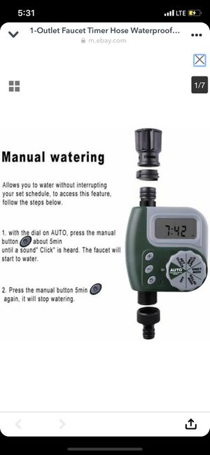 Faucet/Hose Automatic Waterproof Digital Timer With Raindelay!! (Green) FREE SHIPPING/DELIVERY for Sale in Atlanta, GA