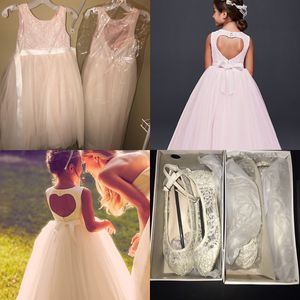 Ball Gown Flower Girl Dresses & Crochet Laced Flats for Sale in Durham, NC