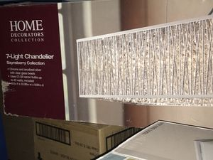 7 light chandelier new in box & crystal pendent lamps & ceiling fans & vanity lamps $49 for Sale in Glendale, AZ