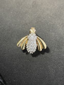 14K Yellow Gold 1ctw Bee Bug Pin Brooch for Sale in Houston,  TX