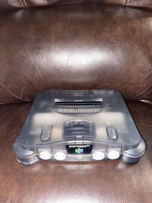 Rare n64 Nintendo 64 smoke grey system 8/10 condition very clean for Sale in Chelsea, MA
