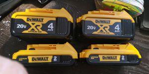Dewalt 20vMAX lithium-ion batteries 2-4aH for Sale in Victoria, TX