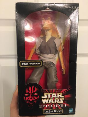 VTG Star Wars Jar Jar Binks 12 Inch Action Figure Episode 1 Hasbro 1998 NEW 57130 for Sale in Atlanta, GA