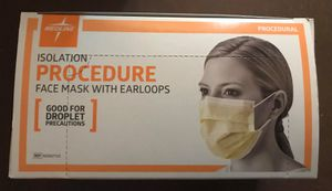 Medline Isolation Procedure Face Mask with Ear Loop NON27122 Box of 50 NEW! for Sale in Spring Hill, FL