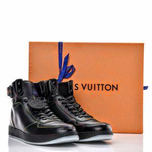 Louis Vuitton Black Leather Revolvi High Top Sneaker 9 1/2 for Sale in Garden Grove, CA