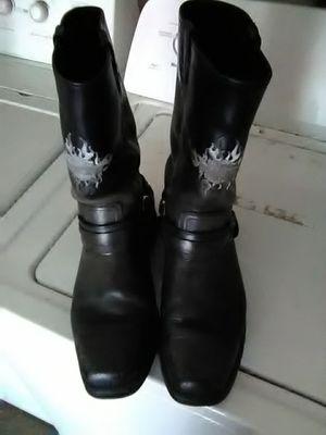 Harley Davidson black leather biker boots size 11 for Sale in Tampa, FL