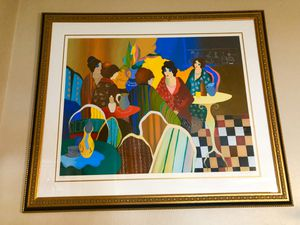 "Itzchak Tarkay ""women in cafe"" limited large edition framed for Sale in Chandler, AZ"