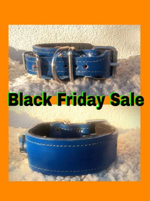 New Super Secure Double buckle Collar 100% Real Leather for Sale in Glendora, CA