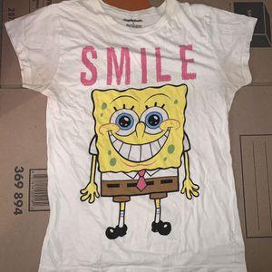 Nickelodeon Smile Spongebob White T-Shirt For Girls Large for Sale in Centreville, VA