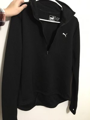 Puma Climate black hoodie with thumb holes LARGE for Sale in Chase City, VA