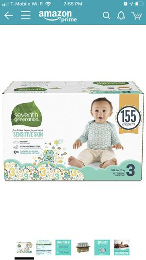Seventh Generation Size 3 Diapers for Sale in Lehi, UT